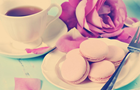 Answer ROSE, CUP, MACAROON, FORK, PETAL, PLATE, TEA, SAUCER